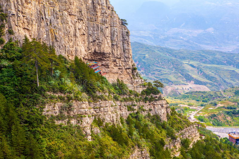 Escena de Hengshan de la montaña (gran montaña septentrional). fotos de archivo