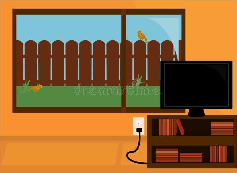Escena de interior ilustración del vector