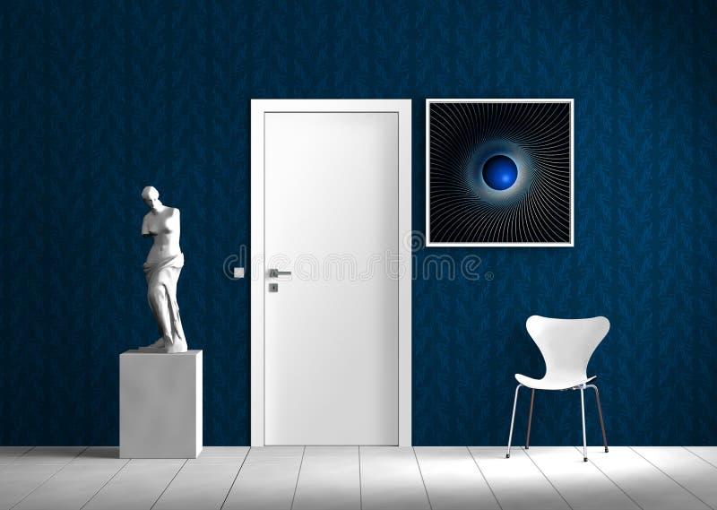 Escena de interior virtual libre illustration