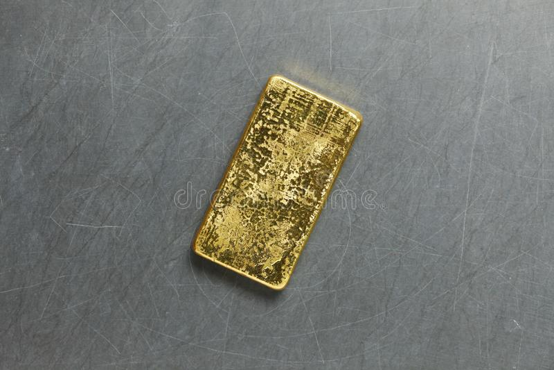 Escena de la barra de oro imagenes de archivo
