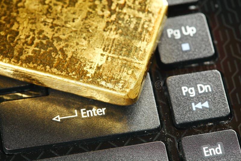 Escena de la barra de oro imagen de archivo libre de regalías
