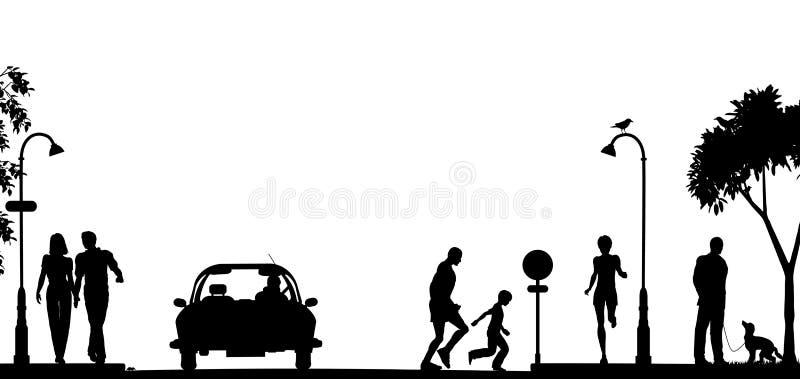 Escena de la calle libre illustration