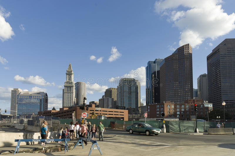 Escena de la calle de Boston fotos de archivo libres de regalías