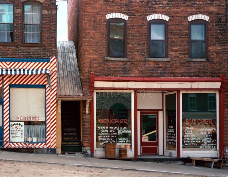 Escena de la calle de la vendimia imagen de archivo