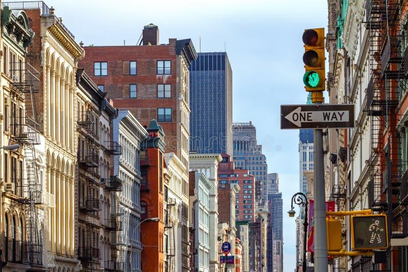 Escena de la calle de New York City en SOHO imagen de archivo libre de regalías