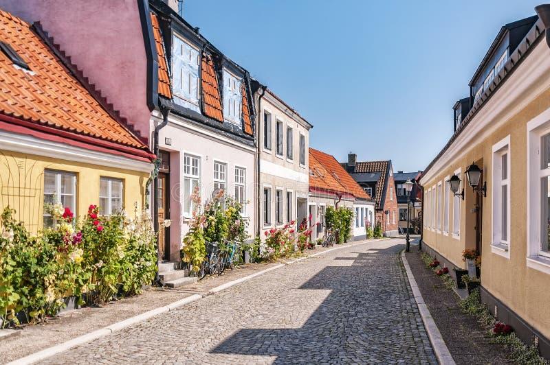 Escena de la calle de Ystad imagen de archivo libre de regalías
