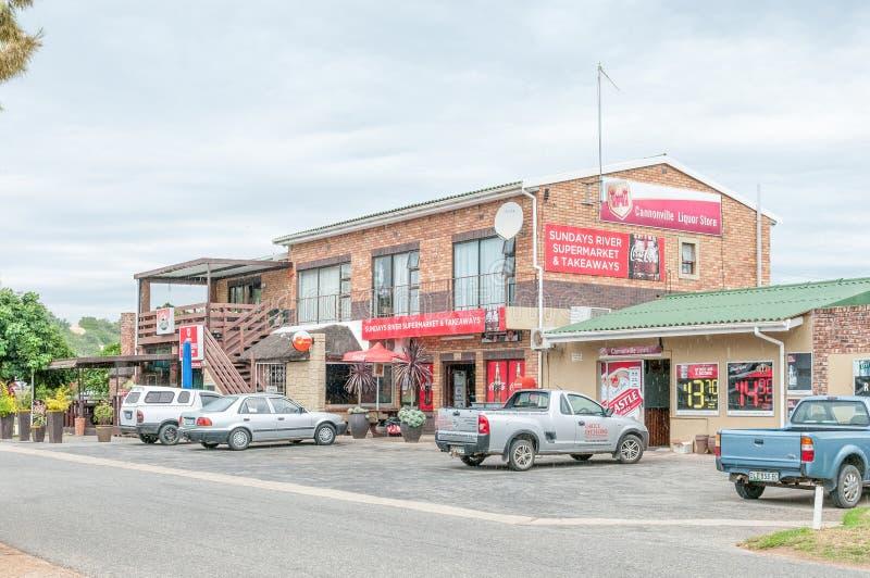 Escena de la calle en Cannonville en Colchester foto de archivo libre de regalías
