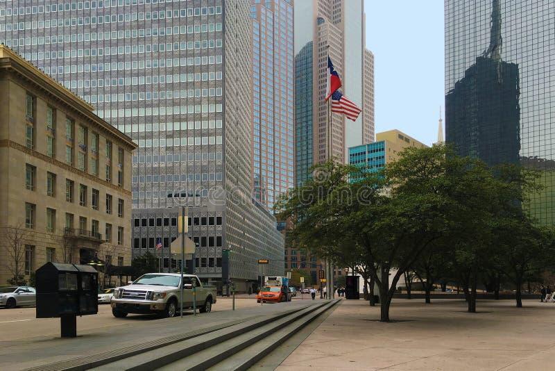 Escena de la calle en Dallas, Tejas foto de archivo