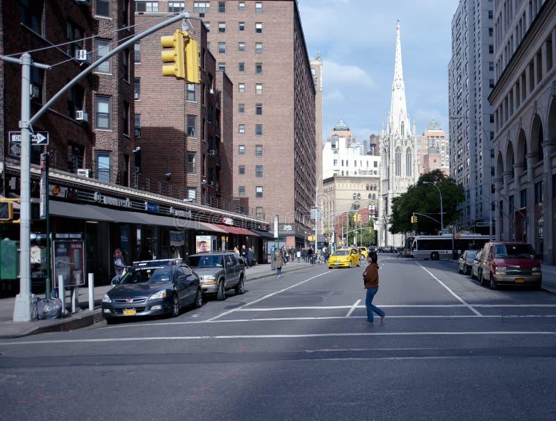 Escena de la calle en el Greenwich Village New York City fotos de archivo