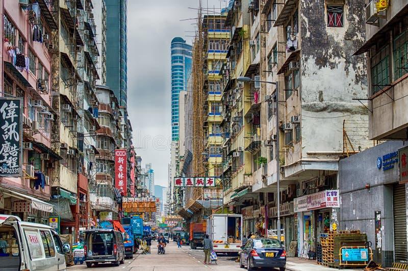 Escena de la calle en Hong-Kong fotos de archivo