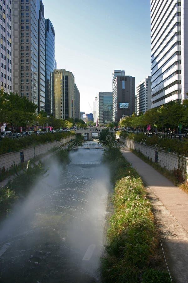 Escena de la calle, Jung-du, Seul, Corea del Sur fotos de archivo libres de regalías