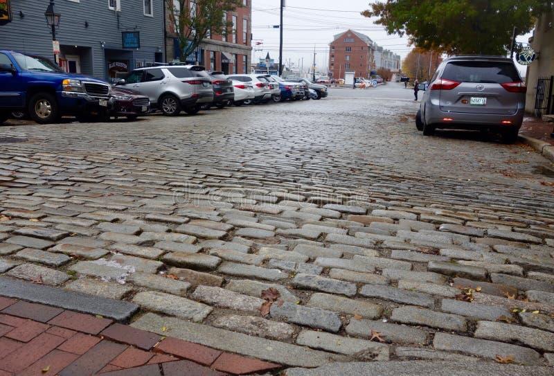 Escena de la calle, Portland, Maine, noviembre de 2018 imagenes de archivo