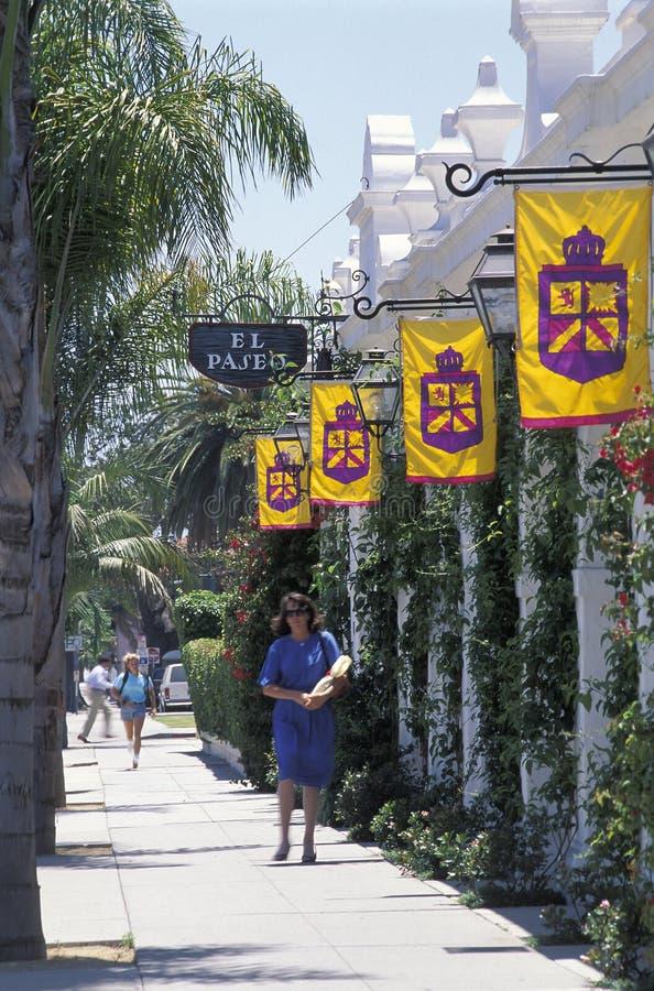 Escena de la calle, Santa Barbara, California fotos de archivo libres de regalías
