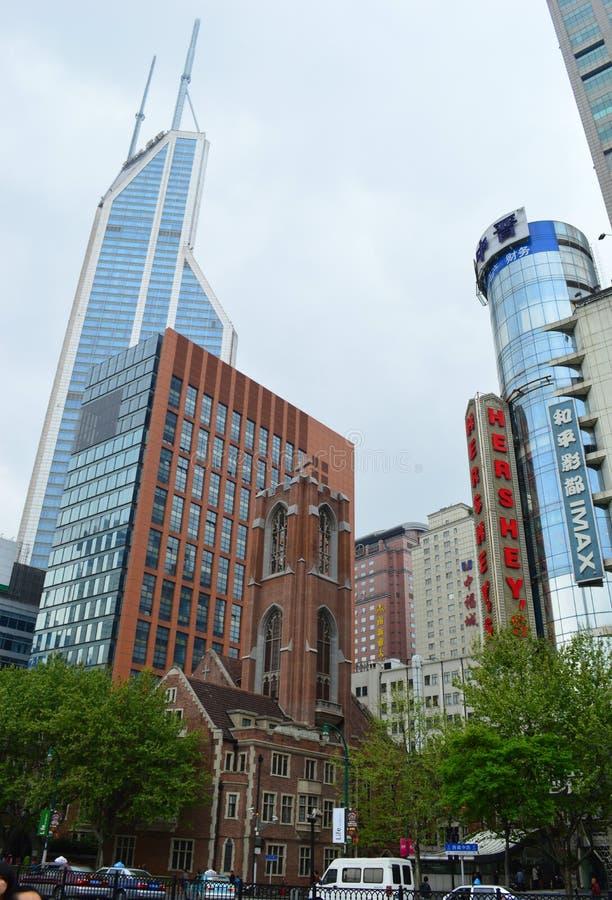Escena de la calle de Shangai foto de archivo