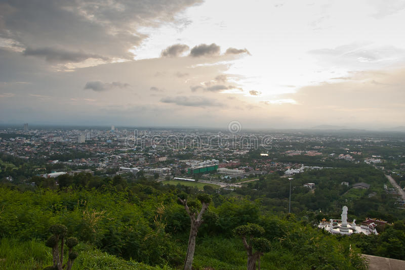 Escena de la ciudad de Hatyai Tailandia imágenes de archivo libres de regalías