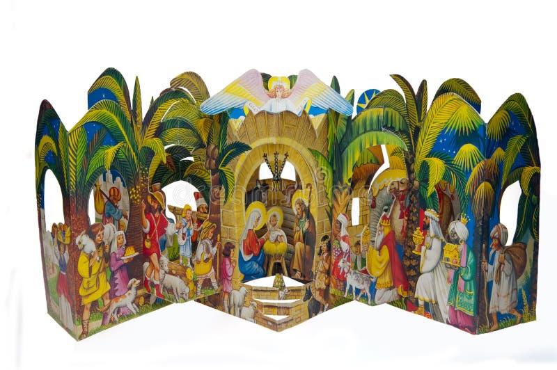 Escena de la natividad imagenes de archivo