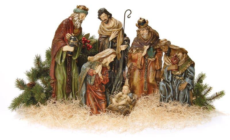 Escena de la natividad. fotografía de archivo