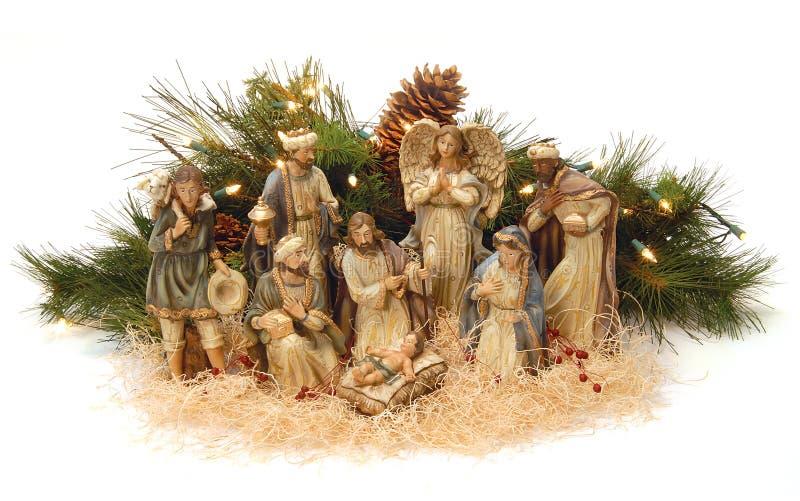 Escena de la natividad. imágenes de archivo libres de regalías