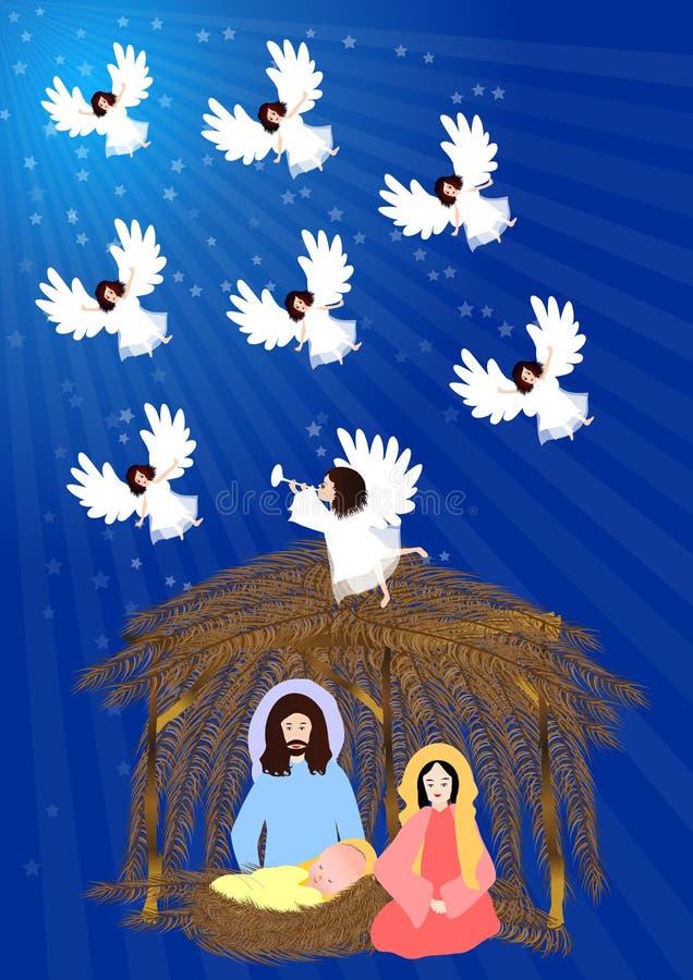 Escena de la natividad libre illustration
