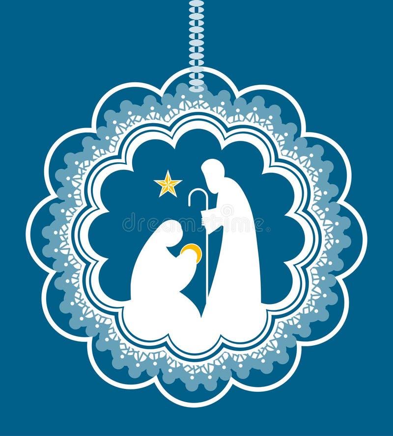 Escena de la natividad de la Navidad libre illustration