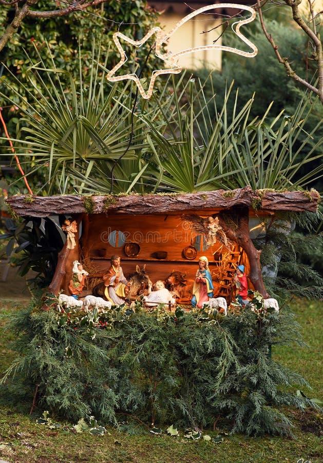Escena de la natividad de la Navidad fotografía de archivo libre de regalías