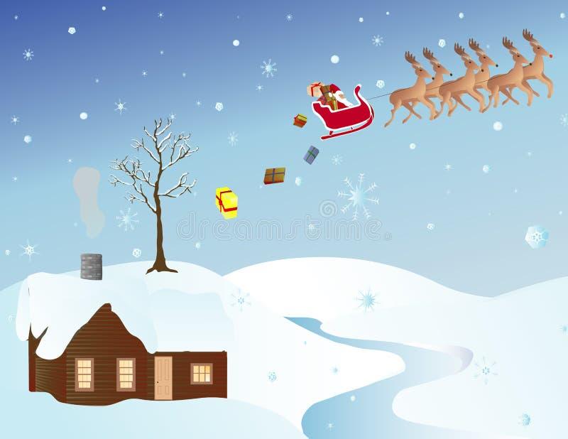 Escena de la Navidad libre illustration