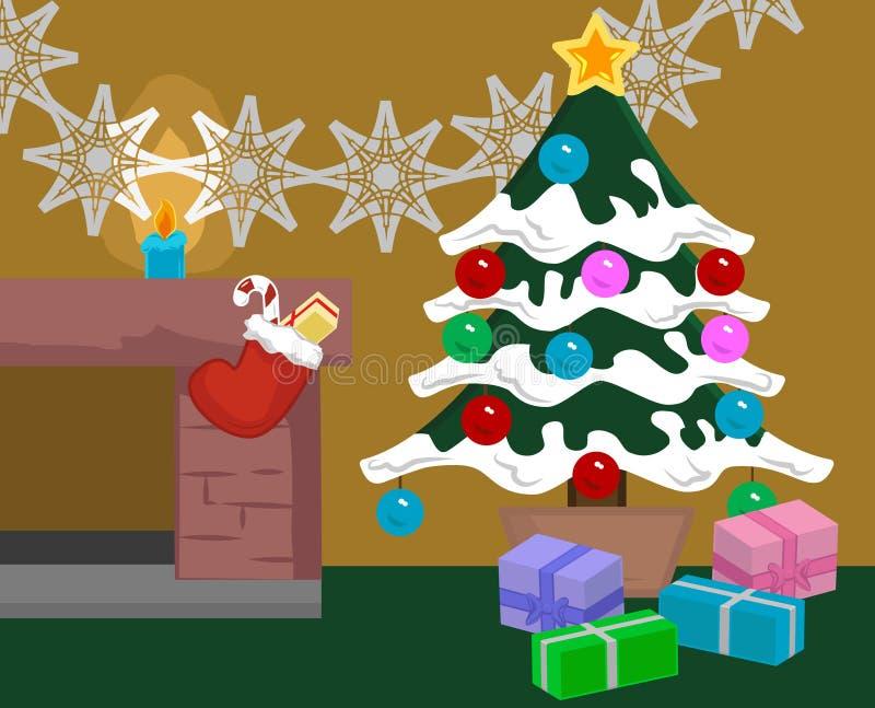 Escena de la Navidad stock de ilustración