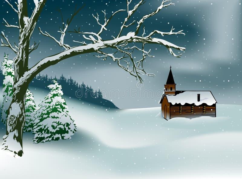 Escena de la Navidad del invierno libre illustration