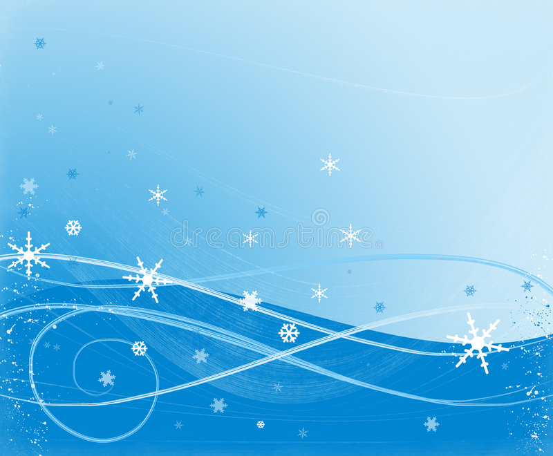 Escena de la nieve fotografía de archivo