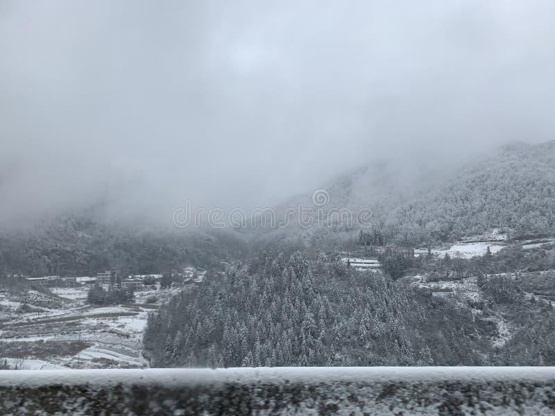 Escena de la nieve del invierno en China foto de archivo libre de regalías