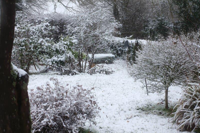 Escena de la nieve de Suffolk fotos de archivo libres de regalías