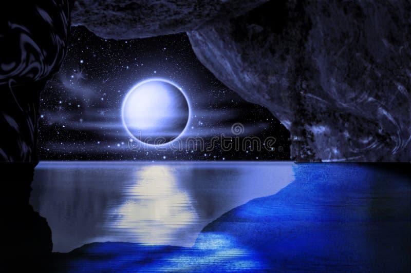 Escena de la noche stock de ilustración
