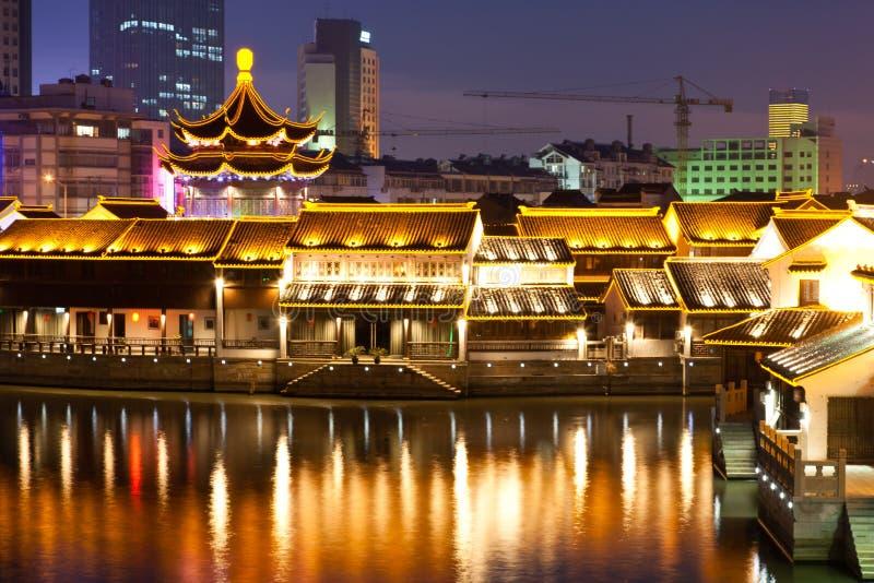 Escena de la noche de China fotografía de archivo libre de regalías