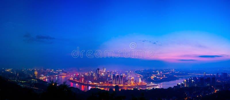 Escena de la noche de Chongqing fotos de archivo libres de regalías