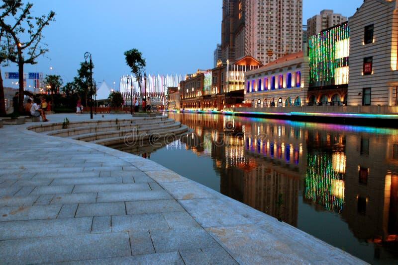 Escena de la noche de la ciudad foto de archivo libre de regalías