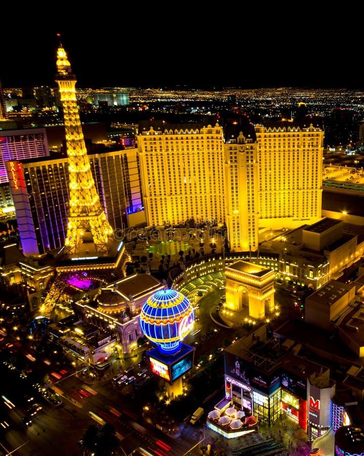 Escena de la noche de la tira de Las Vegas foto de archivo libre de regalías