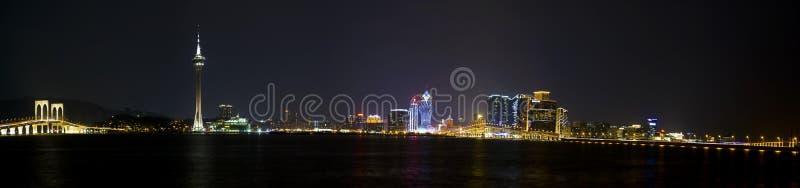 Escena de la noche de Macao foto de archivo