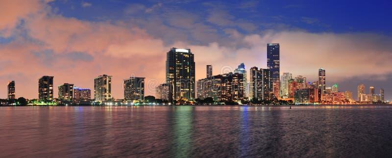 Escena de la noche de Miami fotografía de archivo libre de regalías