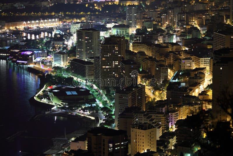 Escena de la noche de Monte Carlo fotografía de archivo