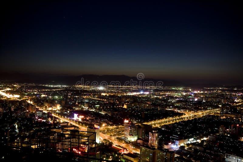 Escena de la noche de Pekín fotografía de archivo libre de regalías