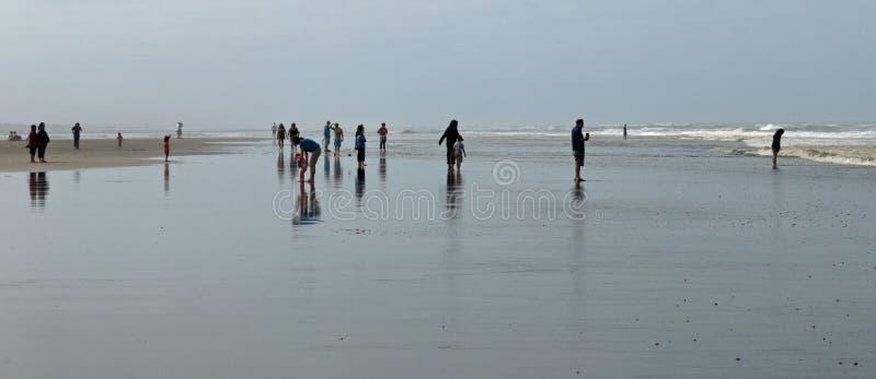 Escena de la playa del océano imagen de archivo