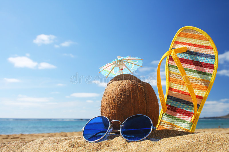 Escena de la playa del verano fotos de archivo