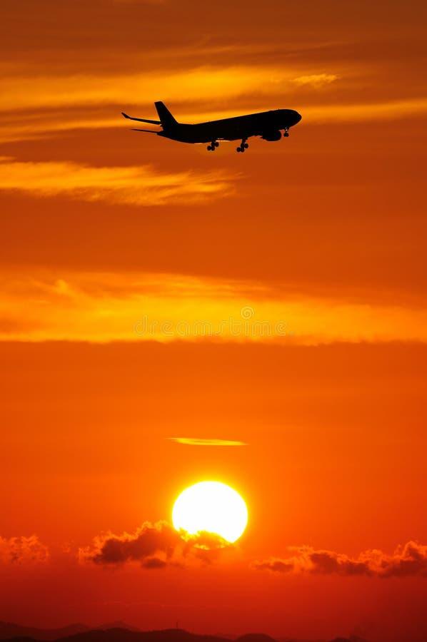 Escena de la puesta del sol foto de archivo