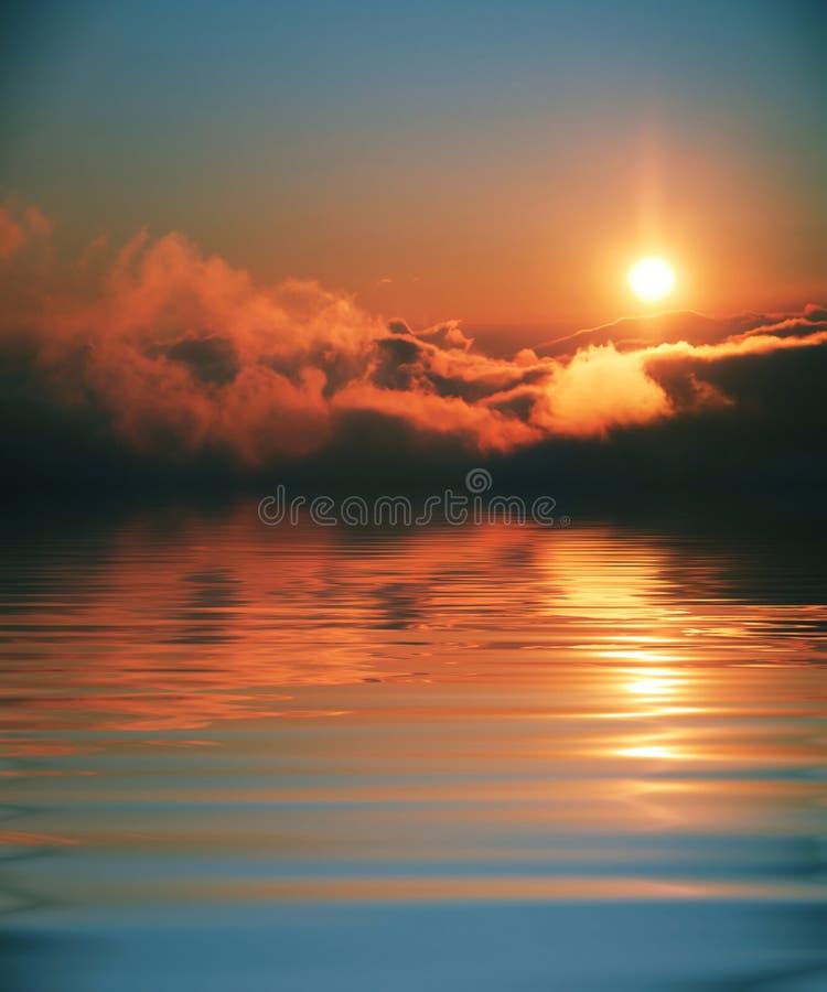 Escena de la puesta del sol imagen de archivo libre de regalías