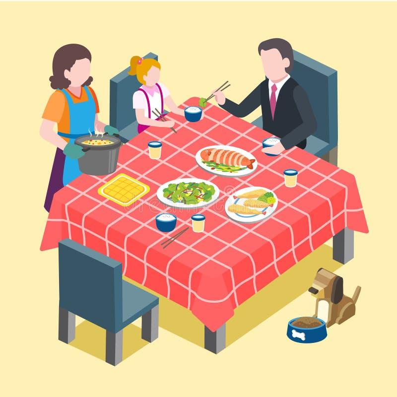 Escena de la reunión de familia stock de ilustración