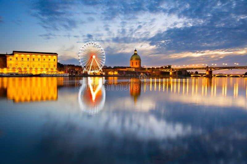 Escena de la señal de Toulouse, Francia fotografía de archivo libre de regalías