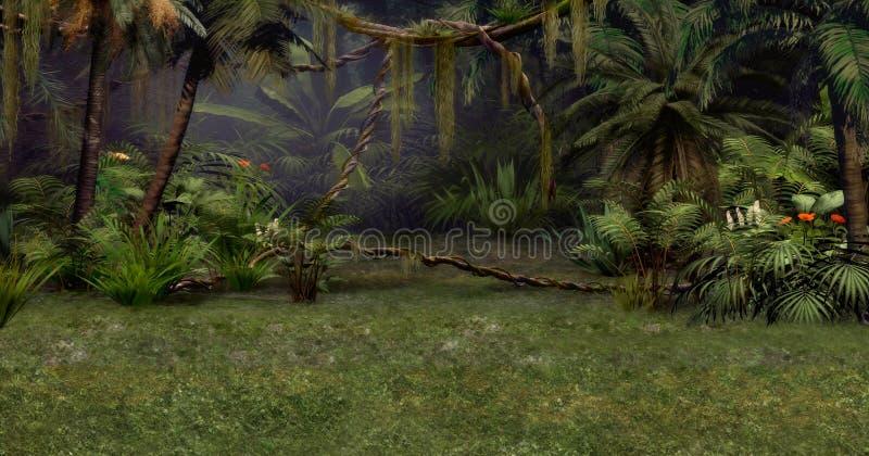 Escena de la selva ilustración del vector