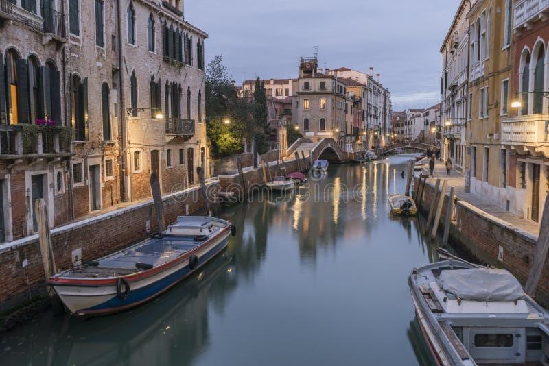 Escena de la tarde de Venecia fotos de archivo
