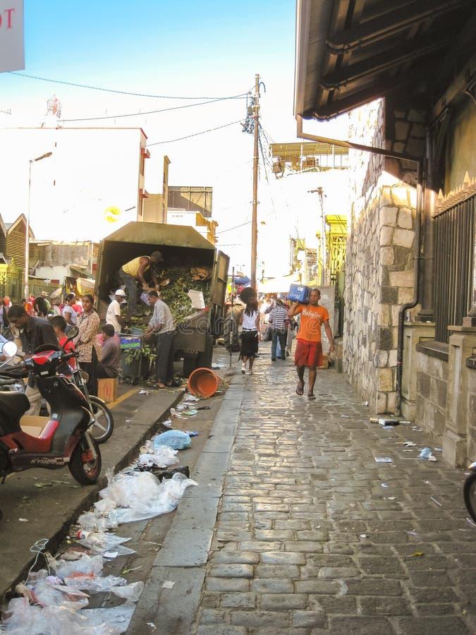 Escena de la vida de Port Louis imagenes de archivo