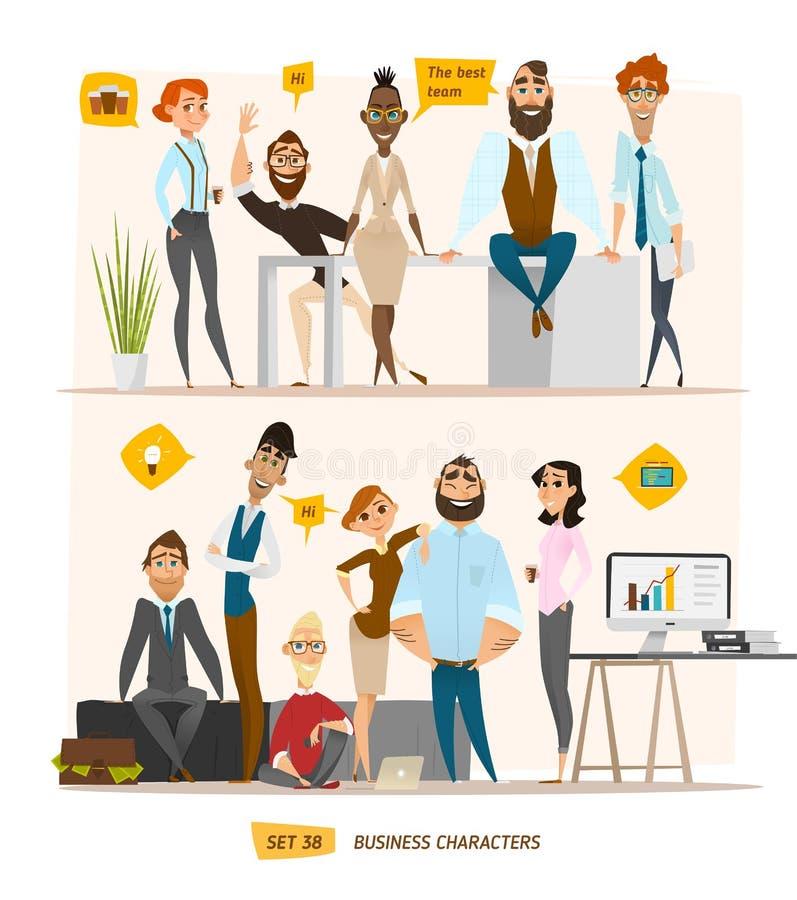 Escena de los caracteres del negocio ilustración del vector